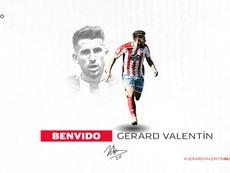 Gerard Valentín firma definitivamente con el Lugo. Twitter/CDeportivoLugo