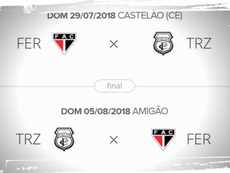 Final da Série D do Campeonato Brasileiro. Twitter @TrezeFC