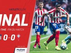 Atlético empata com o Celta. Twitter.com/Atleti