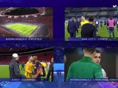 Sigue el directo de la Champions League. Captura/Movistar+