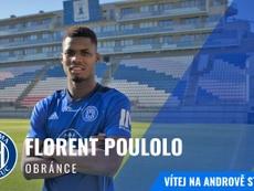 Florent Poulolo, nuevo jugador del Sigma Olomouc checo. Twitter/SKSigmaOlomouc