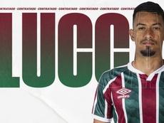Lucca assinou com o Fluminense após passagem pelo futebol do Catar. Twitter/FluminenseFC