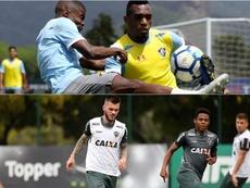 Fluminense e Atlético-MG se enfrentam pela 30ª rodada do Campeonato Brasileiro. Collage/Twitter