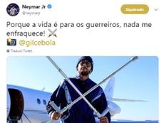 Neymar transmite força nas redes sociais. Twitter/NeymarJr