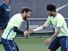 Publication de Neymar pour l'anniversiare de Messi. Instagram/NeymarJr