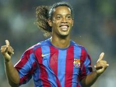 La amenaza de Makelele a Ronaldinho. AFP