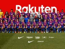 Barcelona reuni equipes para a foto oficial. FCBarcelona