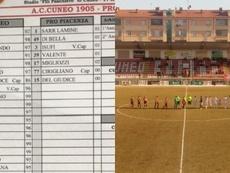 El Pro Piacenza tuvo que jugar con siete futbolistas de inicio. Twitter/DiMarzio
