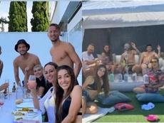 Jogadores do Sevilla se desculpam após festa em plena quarentena. Instagram/ivannabanega