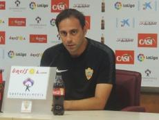 El técnico del conjunto andaluz, afectado por la derrota. UDAlmería