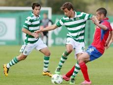 Francisco Geraldes tuvo que anular su cesión al Eintracht por una lesión. Twitter/Sporting
