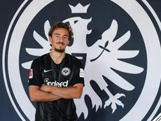 Francisco Geraldes no llegó a debutar en partido oficial. Twitter/Eintracht