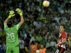 Franco Armani fue uno de los protagonistas de su equipo ante Rosario Central. AFP