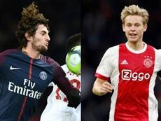 El futuro Rabiot y De Jong está ligado. EFE/AFP