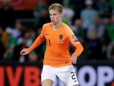 Il centrocampista del Barça e dell'Olanda Frenkie De Jong, talento classe '97. Twitte/OnsOranje