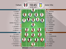 Fulham v Aston Villa, Premier League 2020/2021, 28/9/20, matchday 3 - official lineups. BeSoccer
