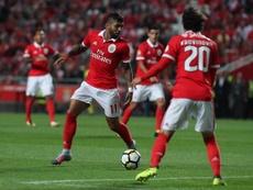 Gabriel Barbosa estreou-se a titular pelas 'águias'. Twitter/SLBenfica