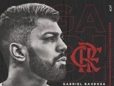 Gabigol é o novo atacante do Mengão. Twitter/@gabigol