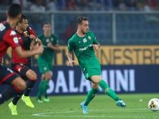 Gaetano Castrovilli, durante un Genoa-Fiorentina. Twitter/acffiorentina