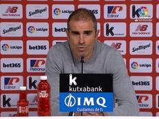 Garitano analizó el Athletic-Levante. Captura/LaLiga
