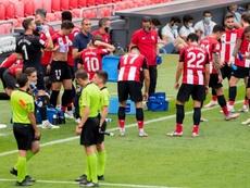 Garitano, resignado con el VAR. Twitter/AthleticClub