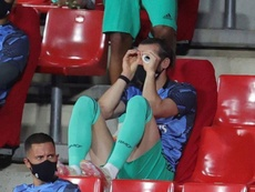 Bale gioca in tribuna. EFE