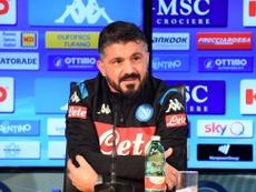 Gattuso ya manda. Twitter/sscnapoli