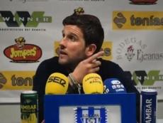 Gerard Albadalejo respondió con mesura al periodista que le increpó. LleidaEsportiu