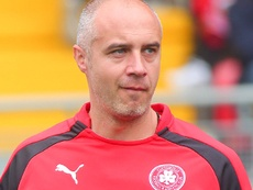 Gerard Lyttle, manager of Cliftonville. Clifftonville FC