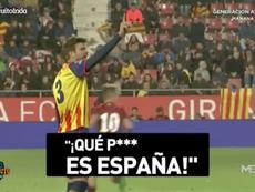 Piqué mandó a callar los gritos contra España. Captura/ElChiringuitoTV