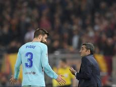 Valverde lamentó no haber pensado en la idea de Piqué. AFP