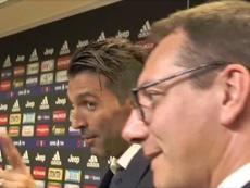 Buffon ne supporte pas le football sans Casillas. Capture/Twitter/gago_mario