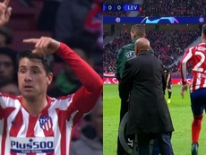 Giminez injured in the 15 minute and Hermoso came on! Capturas/Movistar