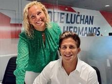 Giuliano Simeone firma su primer contrato profesional con el Atleti. Instagram/giulisimeone