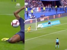 Le but du 0-1 pour l'Allemagne. Capture/M6