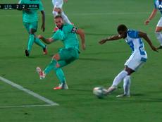 Assalé marcó el 2-2. Captura/MovistarLaLiga