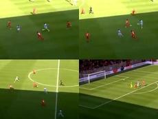 Denis Suárez a passé le ballon à Méndez de l'extérieur. Captures/RCDCeltaTV