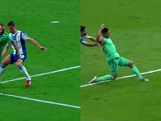 Casemiro broke the deadlock for Real Madrid at the RCDE Stadium. Capturas/Movistar