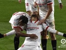 En-Nesyri analizó el triunfo del Sevilla en Huesca. LaLiga