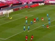 Everton marcó un golazo. Capturas/BTV