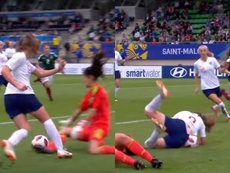 Hemp scored a hat-trick as England beat Mexico. Screenshot/FIFA TV