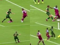 Williams culminó la jugada. Capturas/AthleticTV