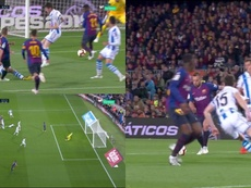 But de Jordi Alba. Capture/Movistar