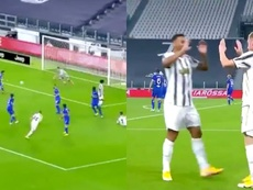 Kulusevski scored for Juventus. Screenshot/Vamos