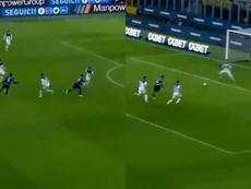 Lukaku et Lautaro n'ont eu besoin que de 4 minutes pour faire mal. Captures/Movistar+LigaDeCampeones