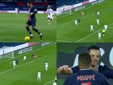 Mbappé hizo un doblete. Capturas/MovistarLigadeCampeones
