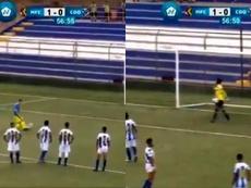 Pablo Gállego marcó de penalti. Capturas/6TV