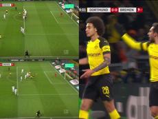 12ème but d'Alcacer avec Dortmund. Captura/Movistar