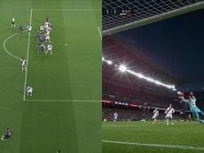 Il goal del pareggio di Piqué. Capturas/beINSports