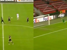 Roofe marcó un gol para el recuerdo de la competición. Captura/Sport3